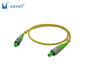 FC SM Fiber Optic Jumper Cables Low Insertion Loss And Back Reflection Loss