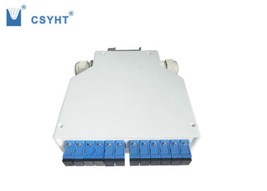 12 SC DIN fiber optic terminal box ABS plastic for DIN rail mounted application